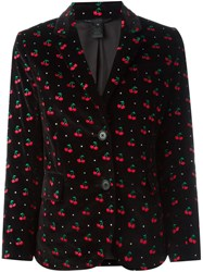 Marc By Marc Jacobs Embroidered Cherry Blazer Black