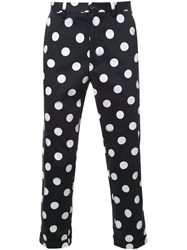 Guild Prime Polka Dot Cropped Trousers Black
