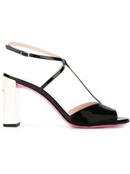 Fendi T Bar Sandals Black