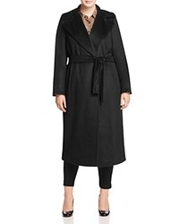 Marina Rinaldi Tatto Belted Coat Black