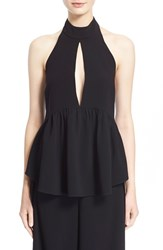 Women's Elizabeth And James 'Perth' Keyhole Halter Top Black