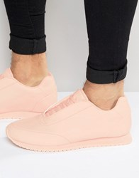 Asos Trainers In Pink Nylon Pink Black