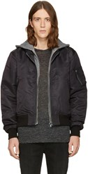 R 13 R13 Black Layered Flight Jacket