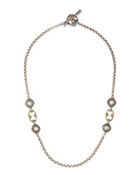 Pearl Station Necklace Konstantino White