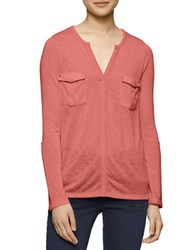Calvin Klein Jeans Solid Shirt With Cargo Pockets Retro Red