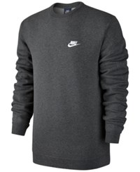 Nike Men's Crewneck Fleece Sweatshirt Charcoal Heather