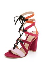 Mary Katrantzou Lietie Sandals Pink Multi
