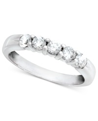Macy's Diamond Band Ring In 14K White Gold 1 2 Ct. T.W.