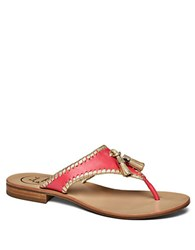 Jack Rogers Alana Leather Thong Sandals Red