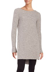 Dkny Long Ribbed Tunic Grey
