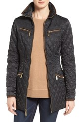 Vince Camuto Women's Faux Suede Trim Quilted Jacket