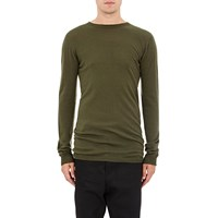 Rick Owens Biker Level Crewneck Sweater Green
