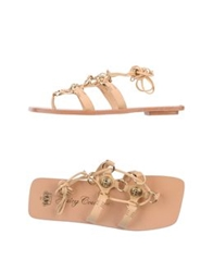 Juicy Couture Thong Sandals Beige