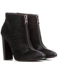 Tom Ford Calf Hair Ankle Boots Black