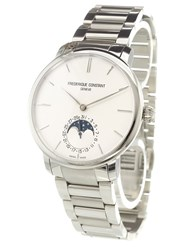 Frederique Constant 'Manufacture Slimline Mondphase' Analog Watch Stainless Steel