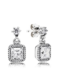 Pandora Design Pandora Earrings Sterling Silver And Cubic Zirconia Timeless Elegance