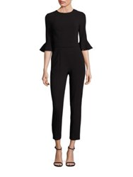 Black Halo Brooklyn Cropped Jumpsuit Black