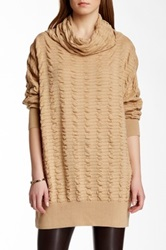 Planet Cowl Neck Sweater Brown