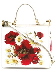 Dolce And Gabbana Small 'Sicily' Shopping Tote White