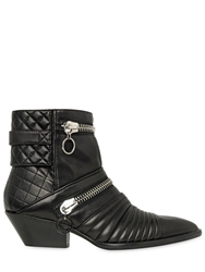 Giuseppe Zanotti 45Mm Quilted Leather Ankle Boots Black