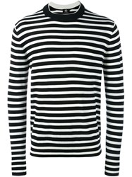 Paul Smith Ps By Striped Crew Neck Jumper White