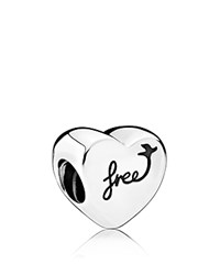 Pandora Design Charm Sterling Silver Heart Of Freed Moments Collection