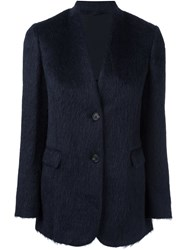 Brunello Cucinelli Collarless Blazer Jacket Blue