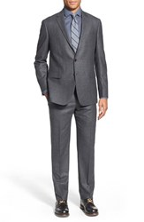 Men's Big And Tall Todd Snyder White Label Trim Fit Solid Wool Suit Medium Grey