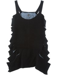 Lost And Found Cut Out Sides Tank Top Black