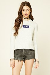 Forever 21 Est 1992 Marled Knit Sweater