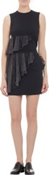 Christopher Kane Snake Print Ruffle Trim Sleeveless Top Black