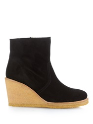 A.P.C. Sevres Suede Wedge Ankle Boots