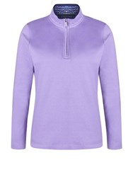 Dash Plaine Funnel Neck Purple