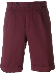 Incotex Pleated Deck Shorts Red