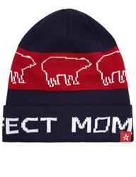 Perfect Moment Navy Bear Beanie Hat