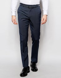 Asos Slim Suit Pants With Stretch In Blue Blue
