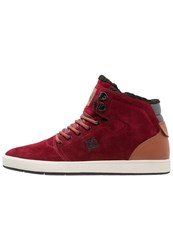 Dc Shoes Crisis Hightop Trainers Syrah Red