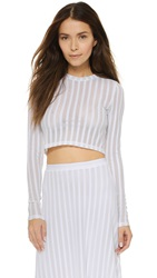 Torn By Ronny Kobo Domenica Long Sleeve Top White