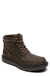 Rockport Men's 'Boat Builders' Moc Toe Boot Dark Brown