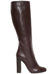 Etro 105Mm Leather Boots Brown