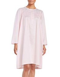 Miss Elaine Long Sleeved Embroidered Floral Gown Pink