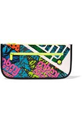 Marc By Marc Jacobs Annie Printed Coated Canvas Clutch White