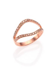 Marlo Laz Gypsy Champagne Diamond Nini Split Ring Rose Gold