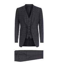 Tom Ford O'connor Check Suit Male Dark Grey
