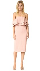 Keepsake Two Fold Dress Dusty Pink