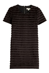 Burberry London Cotton Silk Fringed Dress Black