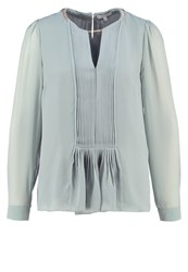 Reiss Inda Blouse Sage Blue