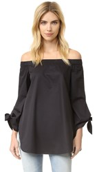 Tibi Off Shoulder Tunic Black