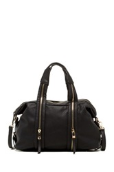 Urban Expressions Peoria Zip Vegan Leather Satchel Black