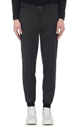 Atm Anthony Thomas Melillo Men's Twill Jogger Trousers Dark Grey